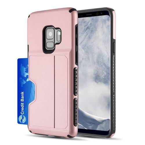 [Samsung Galaxy S9] Redshield Card TO GO II Hybrid Case PC + TPU with Card Slot [Rose Gold]