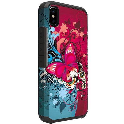 Made for [Apple iPhone X / XS 2018] Shockproof Case, Rubberized Slim Dual layer Hybrid Hard Case on TPU [Butterfly Bliss] by Redshield