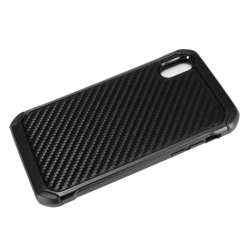 [REDshield] Apple iPhone X Shockproof Case, [Carbon Fiber Design] Rubberized Slim Dual layer Hybrid Hard Case on TPU Case