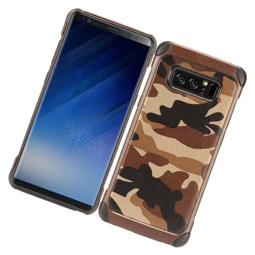 [REDshield] Samsung Galaxy Note 8 Shockproof Case, Rubberized Slim Dual layer Hybrid Hard Case on TPU Case [Tan/ Brown Camouflage]