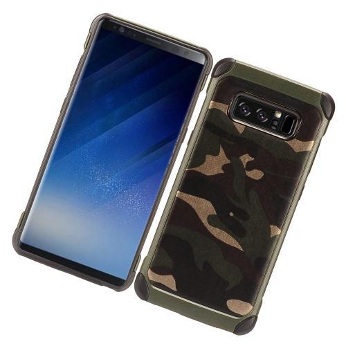 [REDshield] Samsung Galaxy Note 8 Shockproof Case, Rubberized Slim Dual layer Hybrid Hard Case on TPU Case [Green Camouflage]