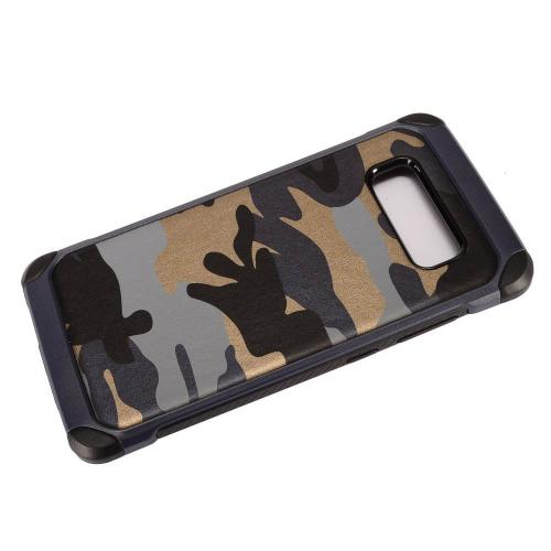 [REDshield] Samsung Galaxy Note 8 Shockproof Case, Rubberized Slim Dual layer Hybrid Hard Case on TPU Case [Gray Camouflage]