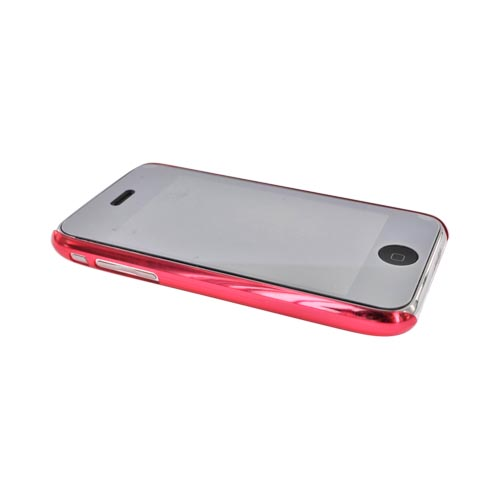 Apple iPhone 3G 3GS Ultra Slim Snap On Back Cover Case - Transparent Red