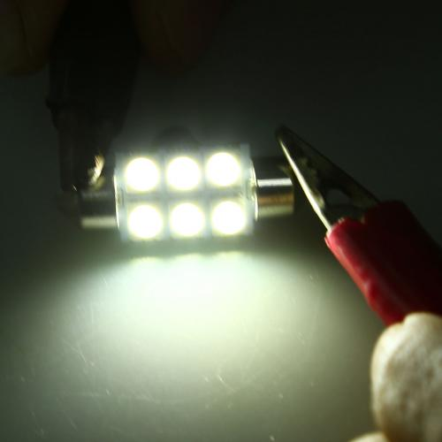 Festoon FS 36mm 6 SMD-5050 LED Light Lamp [White] - 1 Piece