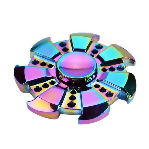 [Fidget Spinner] REDSHIELD Table Top & Hand Spinning - [Rainbow Metal Pinwheel] - Finger Toy, Perfect For Boredom, ADD, ADHD, Anxiety