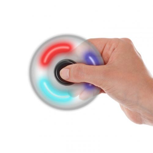 [Fidget Spinner] REDSHIELD Decompression Hand Spinner Toy W/ Switch Plastic, [LED Light] - Finger Toy, Perfect For Boredom, ADD, ADHD, Anxiety, and Autism Adult or Children [Black]
