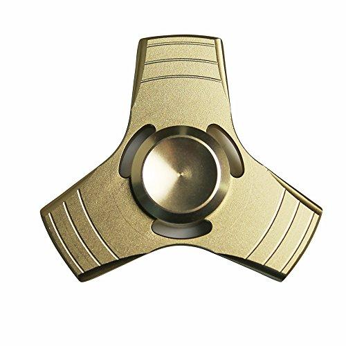[Fidget Spinner] REDSHIELD Decompression Metallic Hand Spinner Toy Tri-Spinner - Finger Toy, Perfect For Boredom, ADD, ADHD, Anxiety, and Autism Adult or Children [Gold]