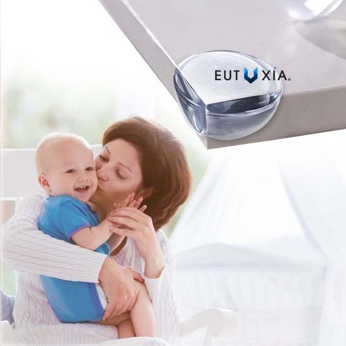 Eutuxia Clear Corner Protector Guards for Babies, Kids, and Children. Safety Bumpers Prevent Injuries from Sharp Edges. For Tables, Furniture, and Cabinets. Easy Installation with 3M Adhesive. [20 PK]