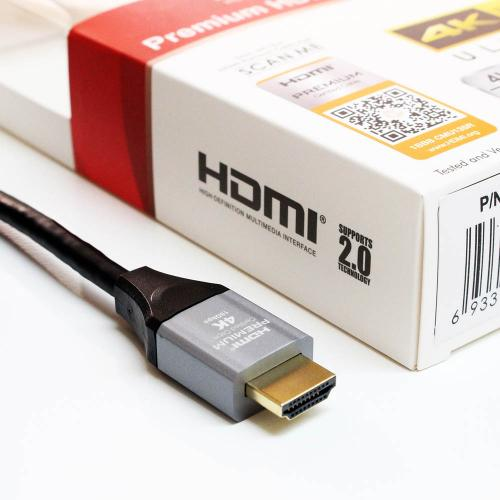[TeraGrand] Premium HDMI Certified [6FT] 2.0 Cable w/ Aluminum Housing, Supports [4K HDR ULTRAHD, 18 GBPS, 4K/60HZ]