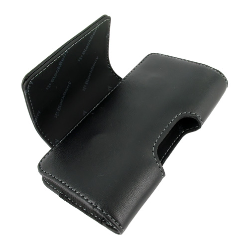 Original Blackberry Bold 9650 & Tour 9630 Horizontal Leather Holster Pouch Case, HDW-23468-001 - Black