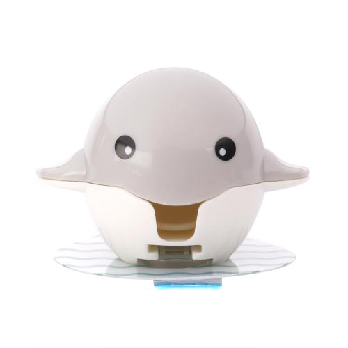 [Kikkerland] Toothbrush Holder, Adorable Whale Toothbrush Holder [Gray or Blue] - Keeps Germs off Your Toothbrush & Attaches to the Mirror!