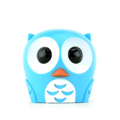 Kikkerland Blue Owl Toothbrush Holder - Keeps Germs off Your Toothbrush & Suctions to the Mirror!