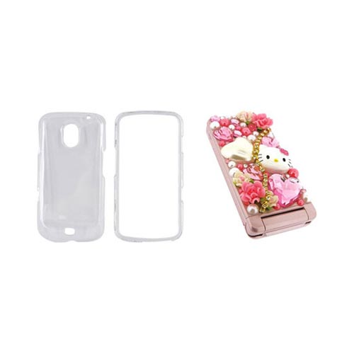 Samsung Galaxy Nexus Hello Kitty DIY Bundle w/ Officially Licensed Hello Kitty Decoration Art Kit & Clear Hard Case