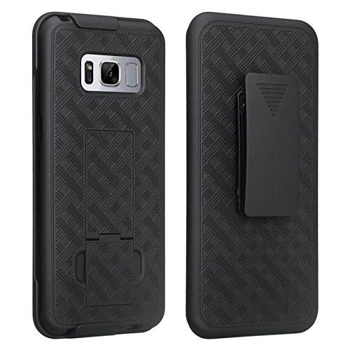 Samsung Galaxy S8 Holster Case, REDshield [Black] Supreme Protection Slim Matte Rubberized Hard Plastic Case Cover with Kickstand and Swivel Belt Clip