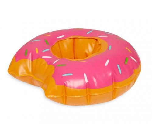 Inflatable Pool Float and Pool Toy Drink Holder Bundle Pack! Included: Coconut Tree, Donut, Watermelon, & Pineapple!