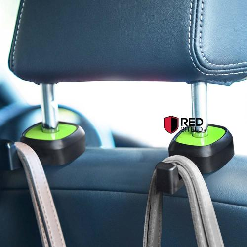 Multifunction car seat hook, [Black/ Green] single vehicle seat back car hanger hook