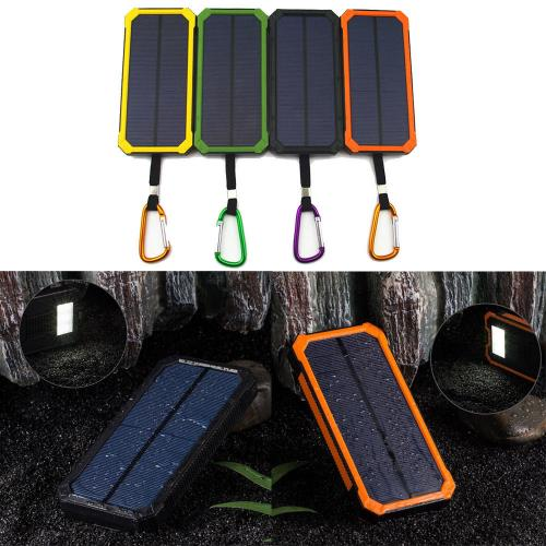 Universal Solar Charger, 8000 mAh Power Bank Portable Charge External Battery with 2-Port Dual USB [Green]