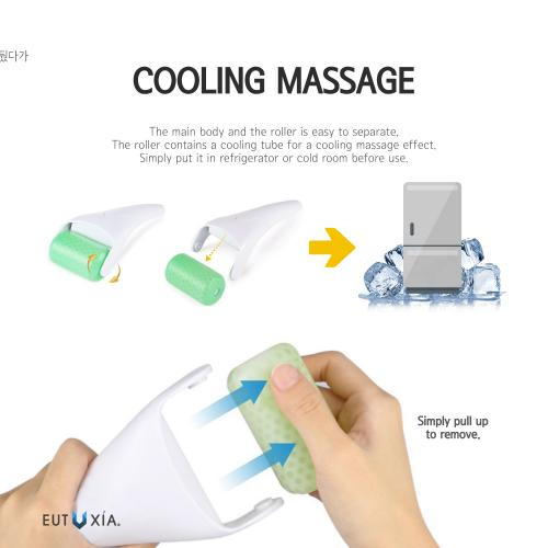 Eutuxia Ice Roller for Pain Relief, Puffiness, Redness, Soreness, Swelling, Migraine, and Minor Injuries. Face, Eyes, and Body Massager. Skin Care Product for Soothing Cold Therapy Massage Treatment.