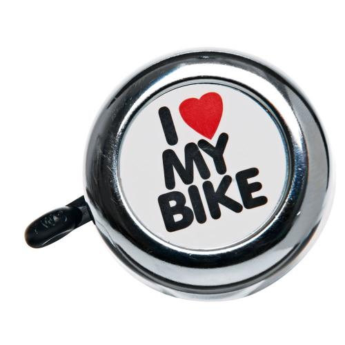I LOVE MY BIKE Bell [Silver] Handlebar Bike Bell