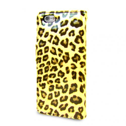Made for Apple iPhone 6 PLUS/6S PLUS (5.5 inch) Wallet Case Cubic Series [Yellow Leopard] Slim Protective Flip Cover Diary Case w/ ID Slots For Apple iPhone 6/ 6S Plus by Redshield