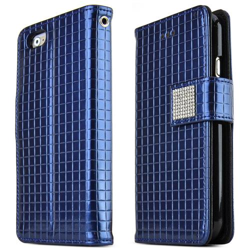 Made for Apple iPhone 6 PLUS/6S PLUS (5.5 inch) Case Cubic Series [Navy] Slim Protective Flip Cover Diary Case w/ ID Slots by Redshield