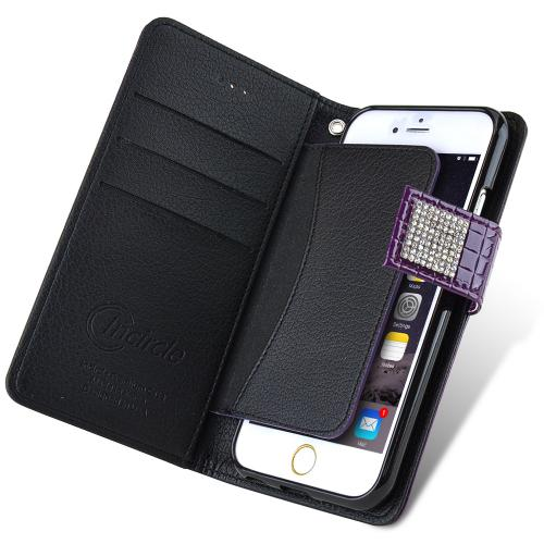 Apple iPhone 6 PLUS/6S PLUS (5.5 inch) Case Cubic Series [Purple] Slim & Protective Flip Cover Diary Case w/ ID Slots
