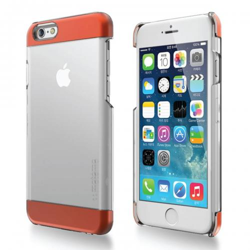 Made for Apple iPhone 6/ 6S Case,  [Orange] INO Wing Series Slim Protective Crystal Glossy Snap-on Hard Polycarbonate Plastic Case Cover by Redshield