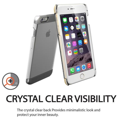 Made for Apple iPhone 6/ 6S Case,  [Silver] INO Wing Series Slim Protective Crystal Glossy Snap-on Hard Polycarbonate Plastic Case Cover by Redshield