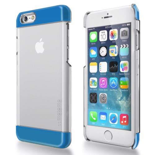 Made for Apple iPhone 6 PLUS/6S PLUS (5.5 inch) Case, INO Wing Series [Blue] Slim Clear Form-Fitting Hard Plastic Protective Case Cover by Redshield