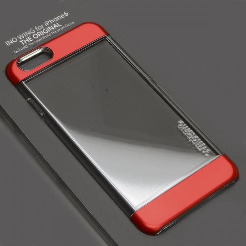 Apple iPhone 6 PLUS/6S PLUS (5.5 inch) Case, INO Wing Series [Red] Slim Clear Form-Fitting Hard Plastic Protective Case Cover