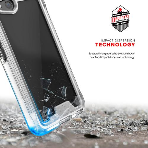 ZTE Tempo X/ Avid 4 Case, ION Triple Layered Shockproof Protection TPU & PC Hybrid Cover w/ Tempered Glass [Silver/ Clear]