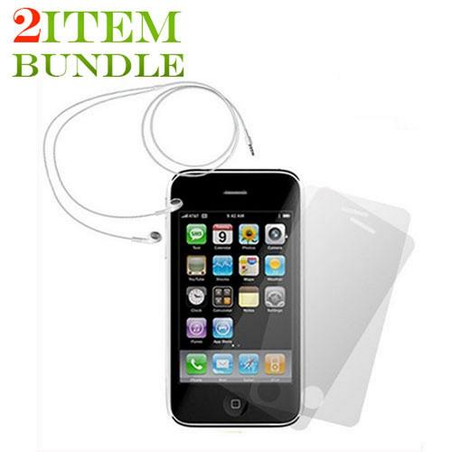 Apple iPhone 3 Combo Package w/ Apple Headset and Screen Protector