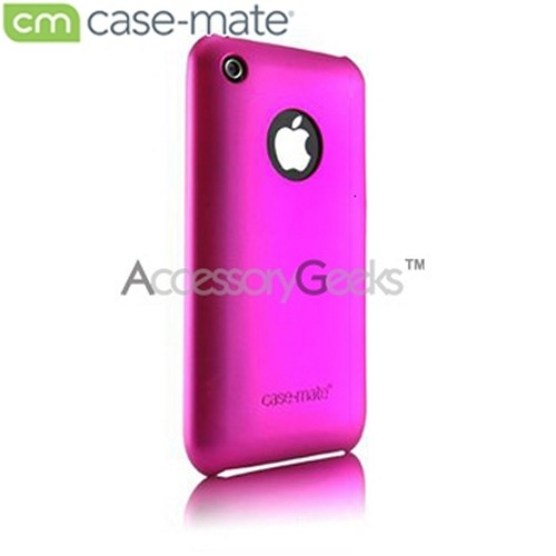 Original Case-Mate Apple iPhone 3G Rubberized Barely There Case - Hot Pink