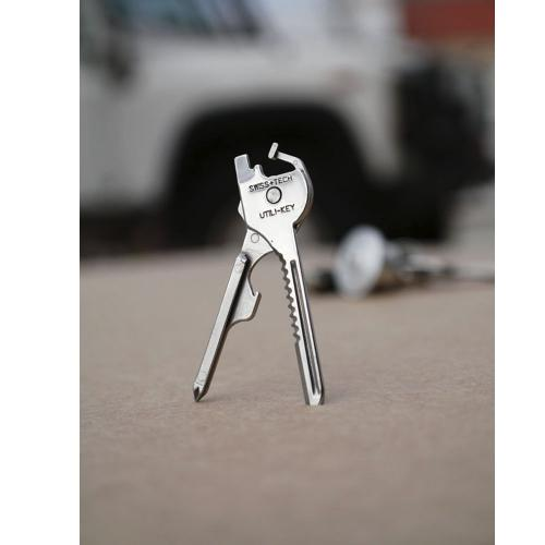Swiss+Tech Steel Multi-Function 6 in 1 Tool Mini Key