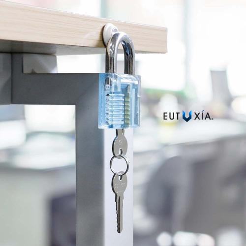 Eutuxia Magnetic Key Holder with Powerful Magnets. Wall Mount with 3M Tape. Organizer Holds Loose Keys, Keychains, Cables & Notes Securely in Place. Perfect Decoration for Home, Kitchen, Office [6 PK]