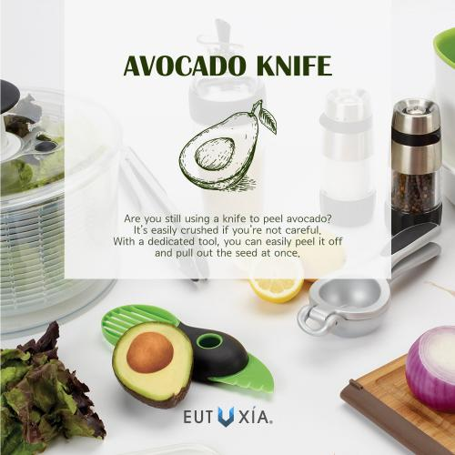 Avocado Tool, [Green] 3-in-1 Pitter, Cutter & Splitter Kitchen Multi Tool