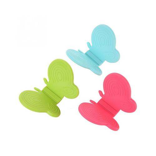 Butterfly Shaped Silicone Pot Holders, [2 Pieces] Silicone Anti-scald Kitchen Pot Holders - Perfect for Hot Plates or Pots! [Random Colors]