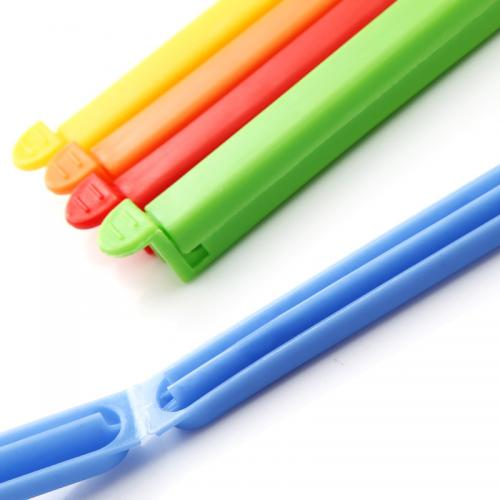 Plastic Sealing Clips - Colorful 5 Pack Sealing Clips for Snacks, Foods, Coffee, and So Much More!