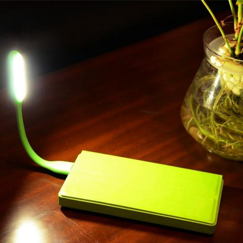 Lime Green Flexible LED USB Mini Lamp for Smartphones, Laptops, Tablets [Protects your eyes from the brightness of your phone in the dark]