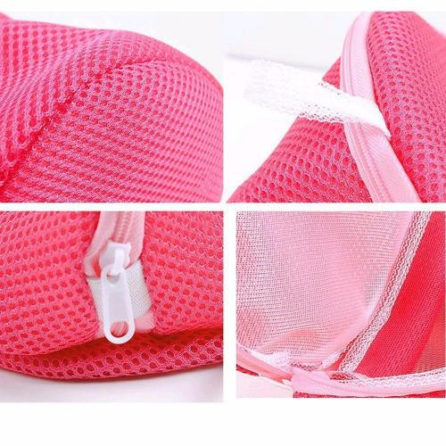 Bra & Hosiery Laundry Bag - Delicates Mesh Washing Machine Laundry Bag, Ideal for Bras and Other Hosiery! [Hot Pink]