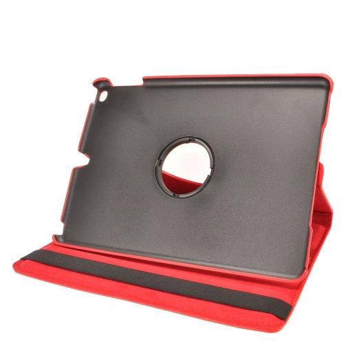 Made for Apple iPad 9.7 inch (2017) Leather Case, [Red] Slim Protective PU Leather Tablet Hard Case w/ Stand and Rotatable Shield by Redshield