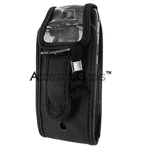 Motorola SLVR L7c Leather Case - Black