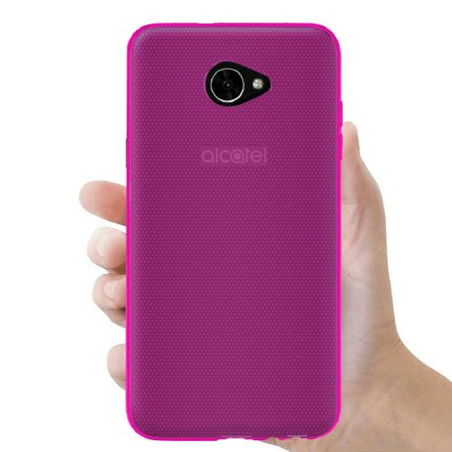 Alcatel A30 TPU Case, [REDshield] Slim & Flexible Anti-shock Crystal Silicone Protective TPU Gel Skin Case Cover [Hot Pink] with Travel Wallet Phone Stand
