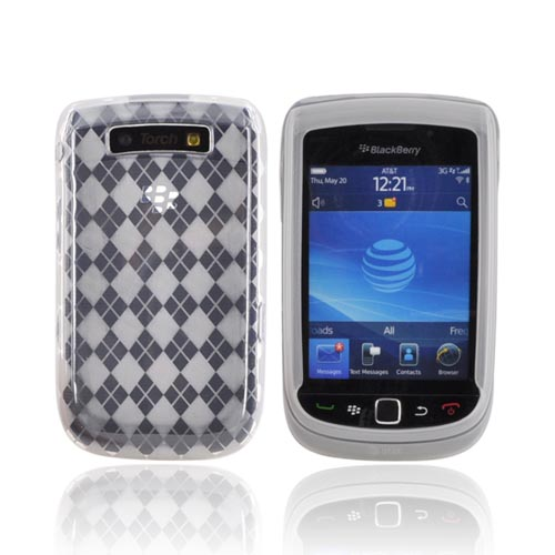 Blackberry Torch 9800 Crystal Silicone Case - Argyle Clear