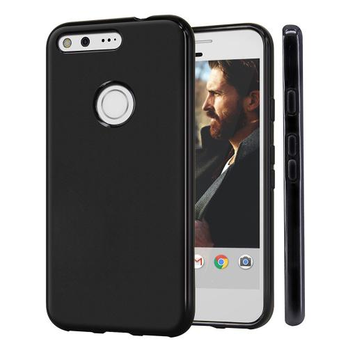 [Google Pixel XL] Case, REDshield [Black] Slim & Flexible Anti-shock Crystal Silicone Protective TPU Gel Skin Case Cover with Travel Wallet Phone Stand