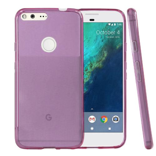 [Google Pixel XL] Case, REDshield [Purple] Slim & Flexible Anti-shock Crystal Silicone Protective TPU Gel Skin Case Cover with Travel Wallet Phone Stand