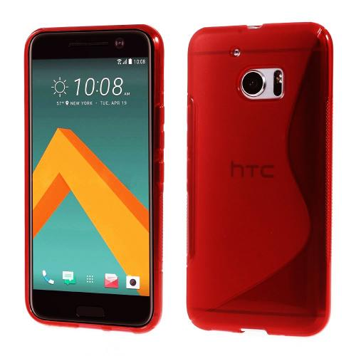 HTC 10 Case, REDshield [Frost Red] Durable Crystal Silicone Protective TPU Gel Skin Case Cover with Travel Wallet Phone Stand
