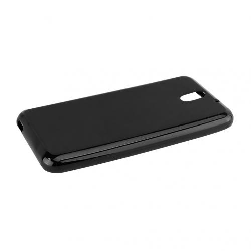Black HTC Desire 610 Flexible Crystal Silicone TPU Case - Conforms To Your Phone Without Stretching Out!