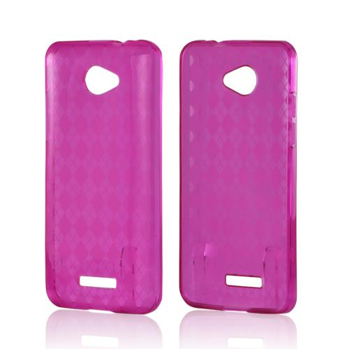 Argyle Pink Crystal Silicone Case for HTC Droid DNA