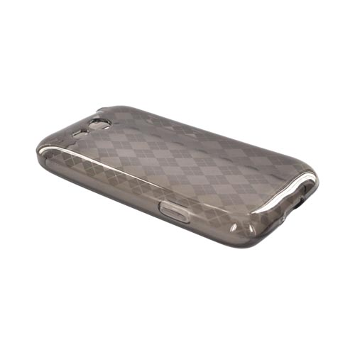 HTC FreeStyle Crystal Silicone Case - Argyle Smoke